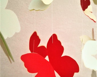 Butterfly mobile wind chimes