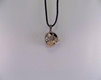 Steampunk Diamond Roller skate bearing pendant