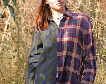 Oversize Harlequin Shirt Checkered