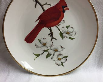 Avon Cardinal and Dogwood Collector Plate (#007)