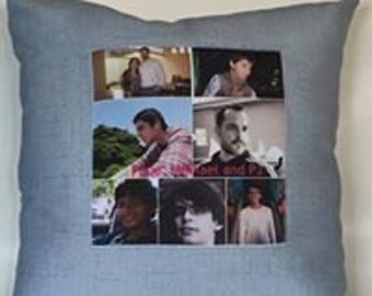"Memory Photo Pillow  Create your own Memories,15"" sq"