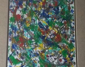 Abstract splatter paint