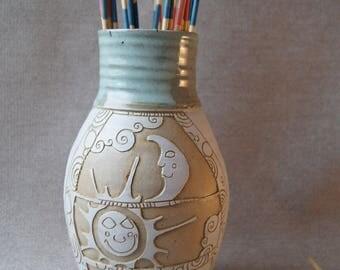 vase, flower, ceramic, stoneware, pottery
