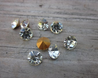 Crystal chatons // 6.2 Clear crystal beads // loose beads