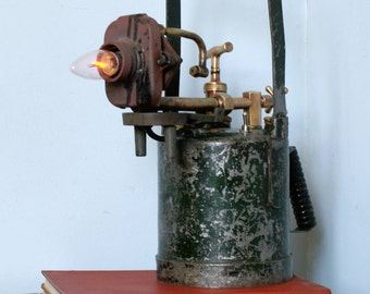 Vintage Blow Torch Table Lamp