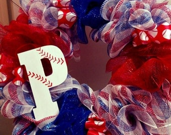 Take Me Out to the Ball Game! Baseball Wreath