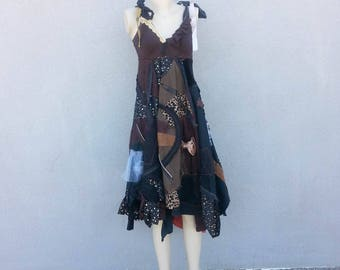 One of a Kind Shabby Chic Steampunk Patchwork Dress
