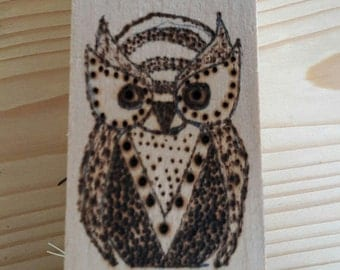 Polishing brush. With OWL fire painting