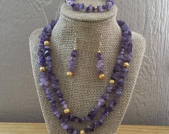 56: Necklace, Bracelet, Earrings Set