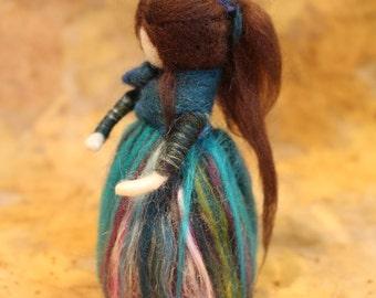 Waldolf inspired needle felt doll -Hetti