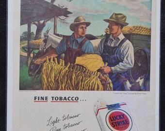 Vintage Lucky Strike Tobacco magazine ad