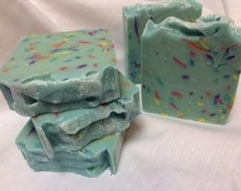 Confetti - Blue Goats Milk Soap Minty Tea Tree