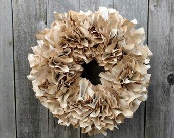 Handmade Book Page Wreath