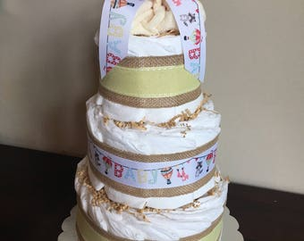 3 Tier Diaper Cake- Yellow