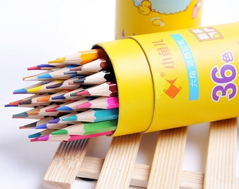 Colored Pencils - Set of 36 with Pencil Case