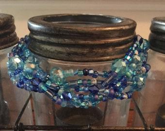 Braided blues bracelet