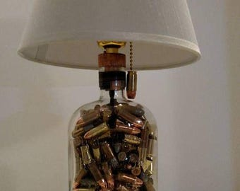 Bulleit Bourbon Bottle Lamp