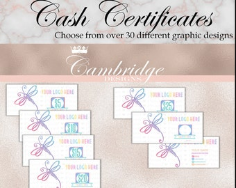 Black OR White Background Cash Certificates - Home Office Approved Fonts and Colors Business Card, Digital