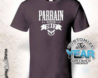 Parrain Since (Any Year), Parrain Gift, Parrain Birthday, Parrain tshirt, Parrain Gift Idea,