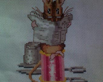 Embroidered cross-stitch miss taylor