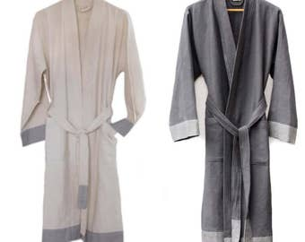 Hand Loomed Turkish Cotton Spa Robes
