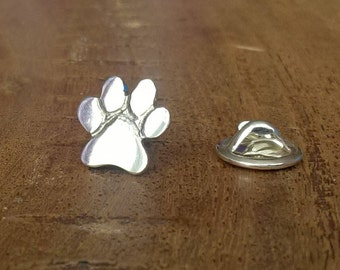 Sterling Silver Paw Print Pin