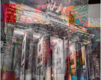 Brandenburg Gate abstract