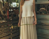 Minimalist wedding dress, 2017 new wedding dress, off white wedding dress, Contemporary wedding dress, Jasmin calla offwhite