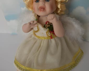 "13"" Porcelain Reclining Angel"