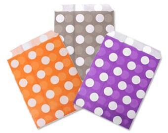 20 Pack envelopes paper polka dots - Orange, grey or purple