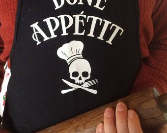 Bone Appetit Custom Skull Apron