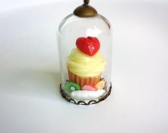 Fruit Tart Deco Dome Cream Necklace