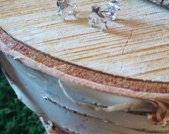 Star Galaxy Stud Earrings Sterling Silver 925