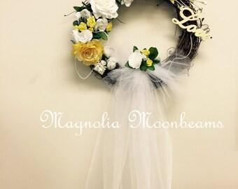 Wedding Veil Wreath