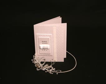 Shimmer Luxury Wedding Invitations,Handmade,personalised, four page booklet style.
