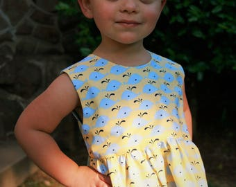 "Florence dress in ""Spout About"" - toddler dress - handmade dress - girl's dress - summer dress - sundress - 12m - 18m - 2T - 3T"