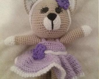 Crochet cat lady doll