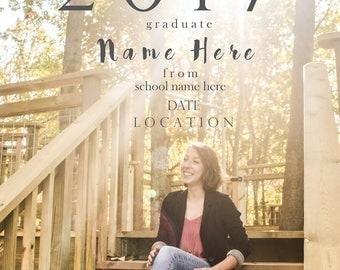 Graduation Announcement- Girls