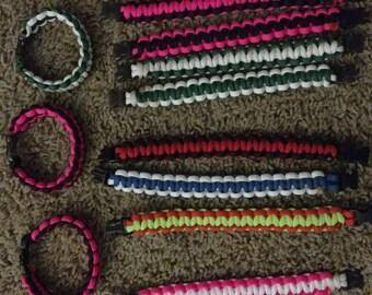 Custom Paracord Bracelet (Dual Color)