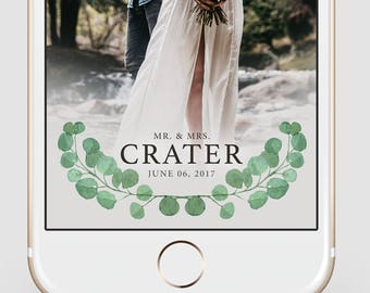 Custom Snapchat Geofilter | Elegant Eucalptus | Wedding Snapchat Geofilter | Snapchat Filter