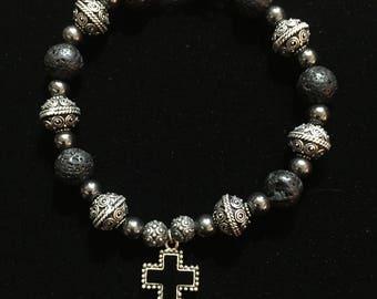 handcrafted unique men's gemstone bracelet