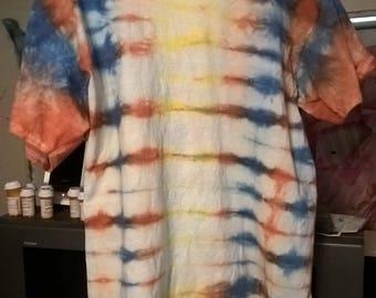 Blue, Orange, Yellow Stripes