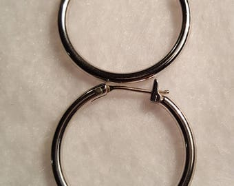 Sterling Silver Vintage Hoop Earrings