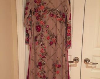 Beautiful Pakistani Indian Formal/Wedding/Eid Heavily Embellished Stitched Dress Women's clothing
