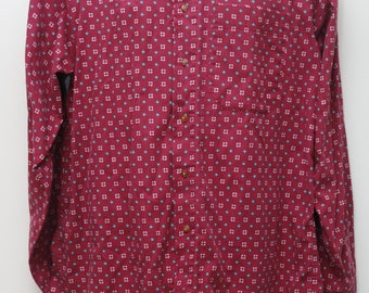 "80's Vintage ""COLOURS by ALEXANDER JULIAN"" Long-Sleeve Pattern Shirt Sz: Medium (Men's Exclusive)"
