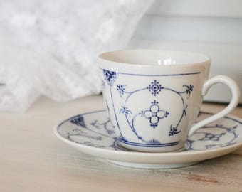 Beautiful Blue and White Teacup - Kahla
