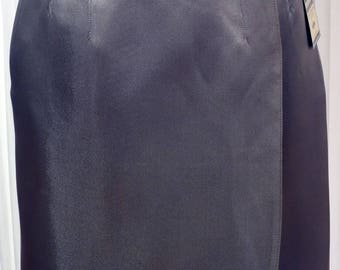 Wallet silk satin skirt