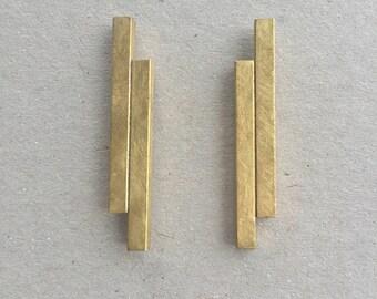 Geometric Tube Earrings