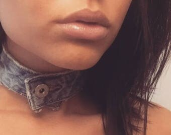 BUCKLE UP Designer Denim Choker