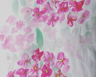 Commission Your Wedding Bouquet Watercolour Painting
